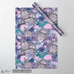 Romantic petals vintage pattern