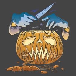 Scary Horror Pumpkin Face Halloween Spooky Serial Killer