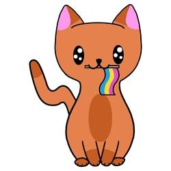 Pansexual Pride Cat