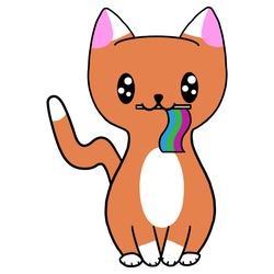 Polysexual Pride Cat