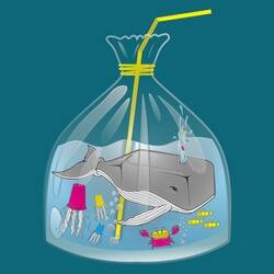 ocean world in plastic