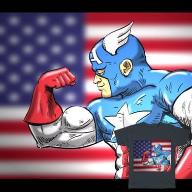 Captain Flexes for America