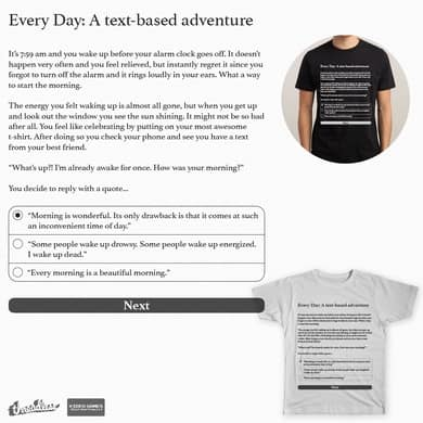 Every Day: A text-based adventure