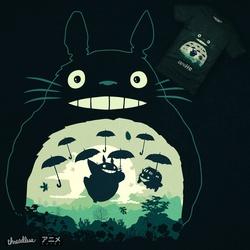Camiseta Totoro and his Umbrella