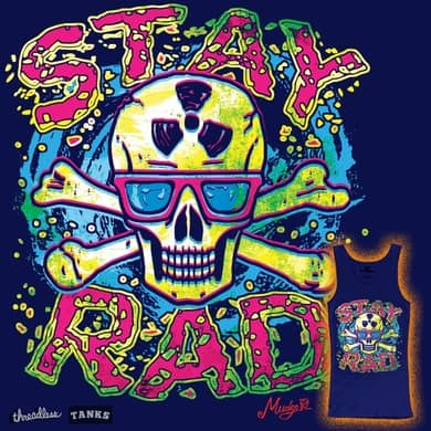 Stay Rad Skull With Headphones