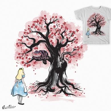 The Cheshire's Tree sumi-e