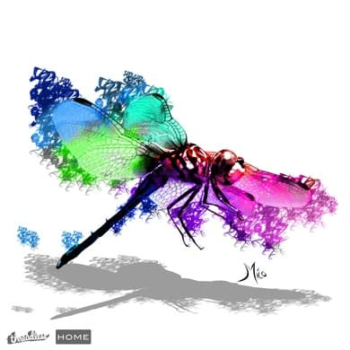 Dragonfly Bursting into Color