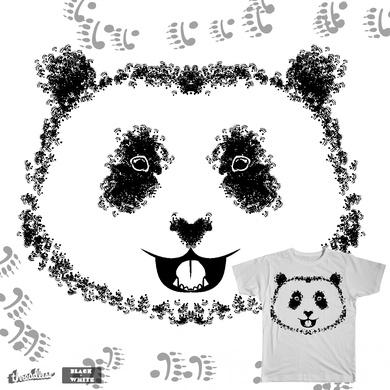 Monochromatic Panda paw panda
