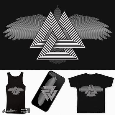 Valknut Black and White
