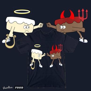 Angel vs Devil's Food Cake