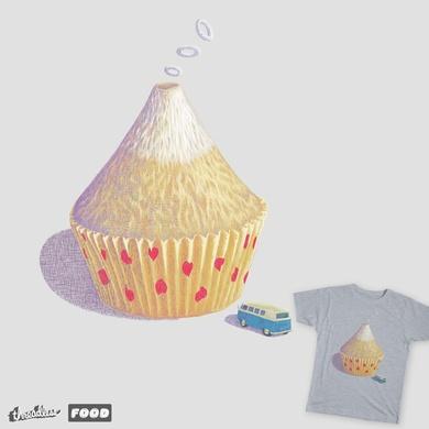 volcano cupcake