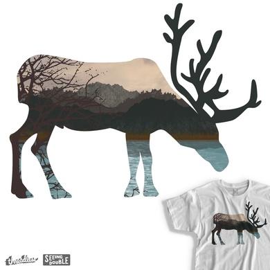 Deer Scenery - Seeing Double