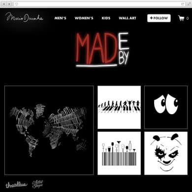 """Made by MAD"" mariodcunha.threadless.com"