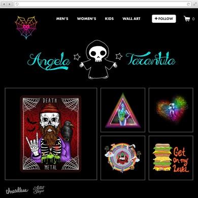 Angela Tarantula's Artist Shop