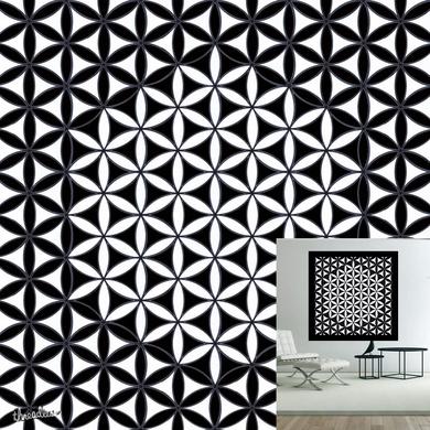 Flower of Life Pattern black an white 1