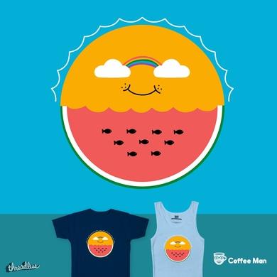 Sun and watermelon