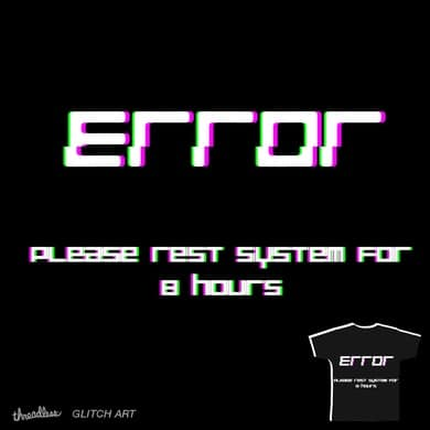 ERROR: REST SYSTEMS FOR 8 HOURS