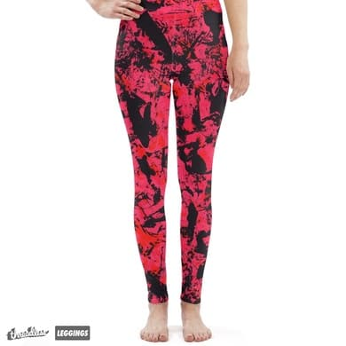 graffiti leggings -red!