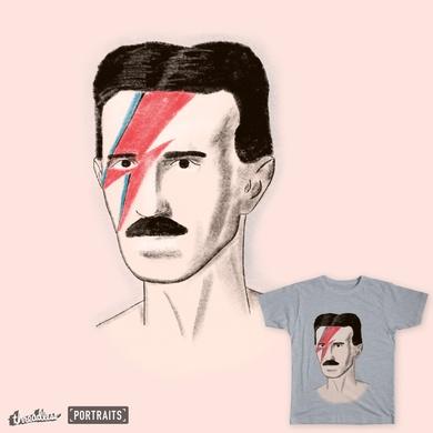 Tesla with Bowie's Lightning Bolt