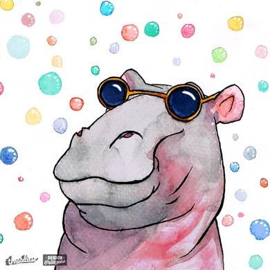 Happy Hippy Hippo