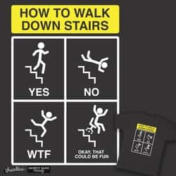How to Walk Down Stairs