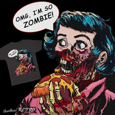 Zombies loves pizza
