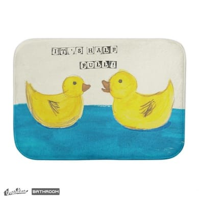 Optimism! bath mat