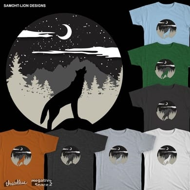 Wolf Howl Moon Rise