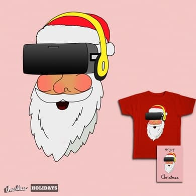 Entertained Santa