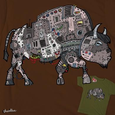 Robotic American Buffalo
