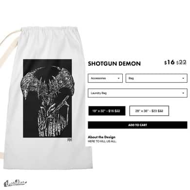 SHOTGUN DEMON (LAUNDRY BAG)
