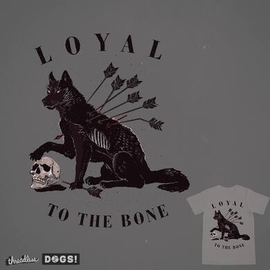 Loyal to the bone as only a dog can be