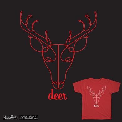 One Line Deer