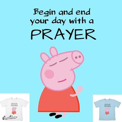 Peppa pig praying