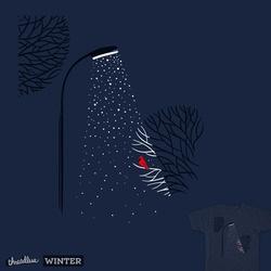 night. snow. bird.