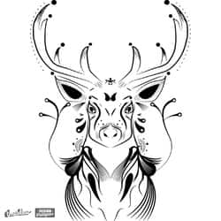 Ornate Deer Design