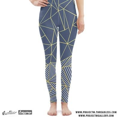 Ab Lines Navy Gold