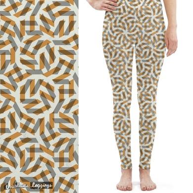 Orange Maze Pattern