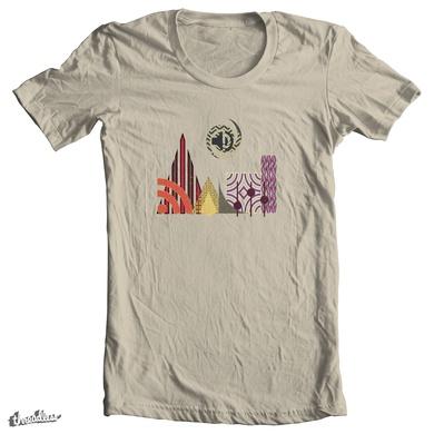 Trippy Cityscape (vintage rainbow version)