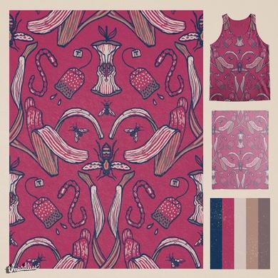 Rubbish Pattern (Maroon)