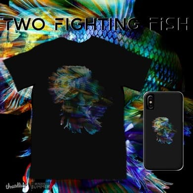 Two Fighting Fish