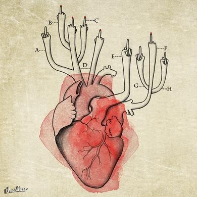 From my heart sprouts indignation - De mon cœur germent parfois des doigts d'honneur