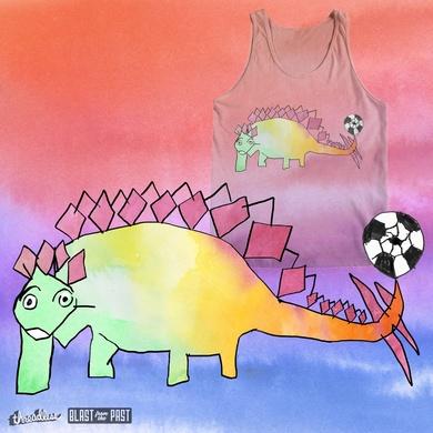 """heyK´s football-dinosaurs featuring """" RAINBOW-STEGOSAURUS """""""