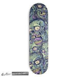 Zombie Pattern Skateboard Design