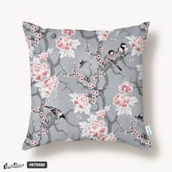 Chinoiserie birds in gray
