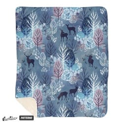 Steel blue forest deer