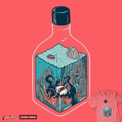 deep down at the bottom of the bottle