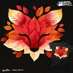 Fox of leaves