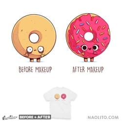 Before After Makeup - Donut