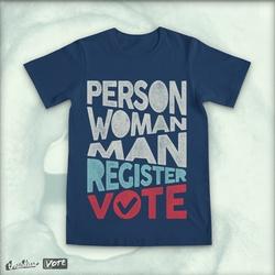 Person. Woman. Man. Register. Vote.